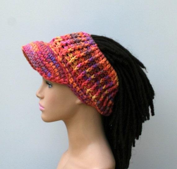 Custom color Ponytail hat Visor Dread Tube cap billed dread  2c5e66cd895