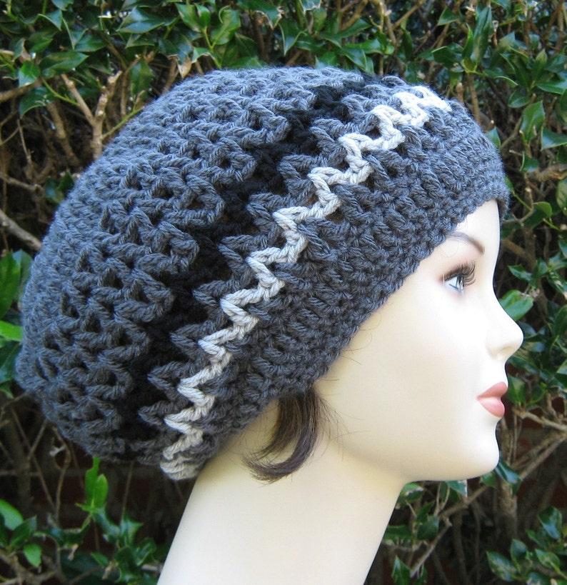 1720c539750 Slouchy Beanie Charcoal Grey Dread Tam hat Hippie Hat