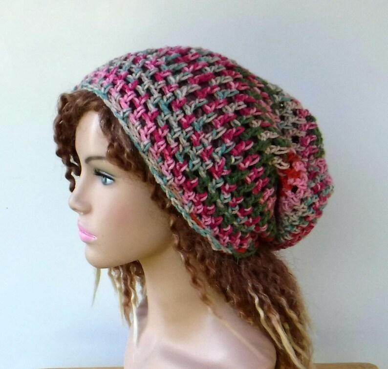 fc02607f4da Summer slouchy hat gelato pink hippie small dreadlocks beanie