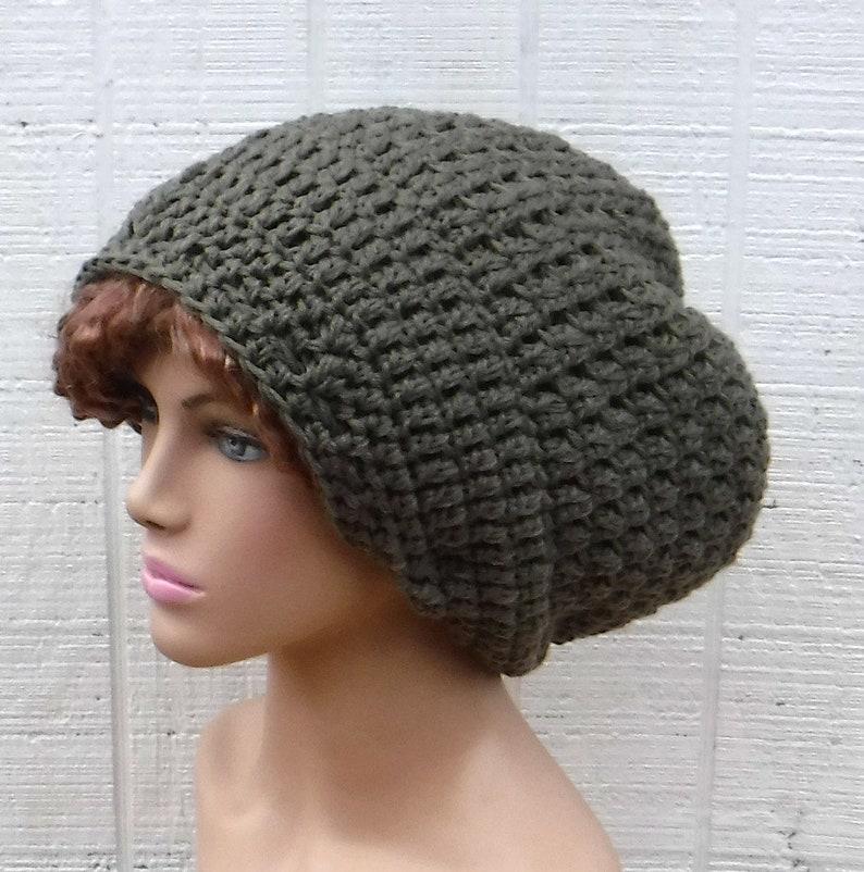 81e6d33fbea Khaki Brown Slouchy Beanie Dread Tam hat Dreadlocks Hat