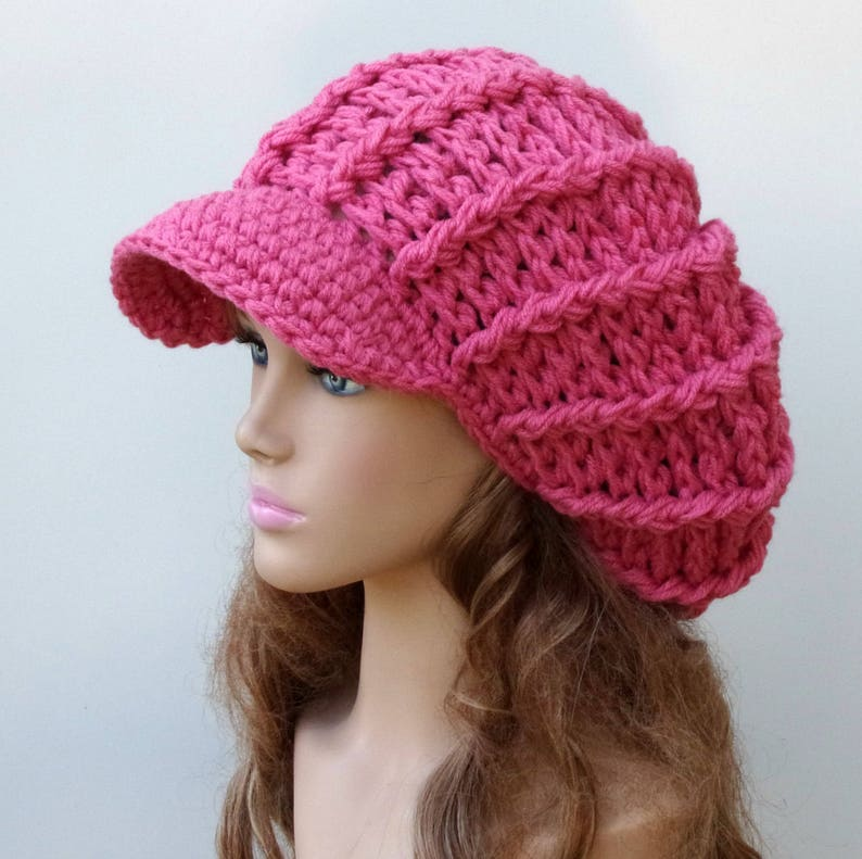 bb91cfd4598 Instant Download PDF Pattern Newsboy hat poofy ribbed slouchy