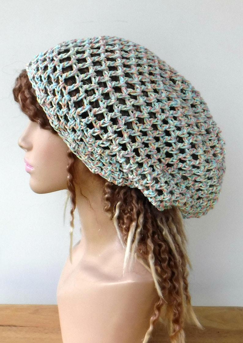26e2b88bdbd Cotton slouchy hat soft colors cotton woman slouchy beanie