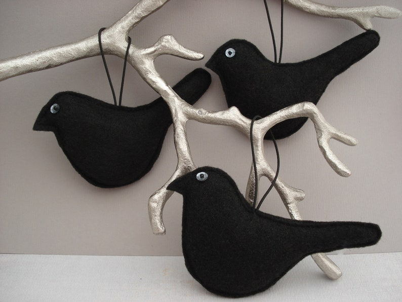 Hanging Decoration Home Decor Crow Ornament Black Bird Ornament Crow Decoration Halloween Ornament
