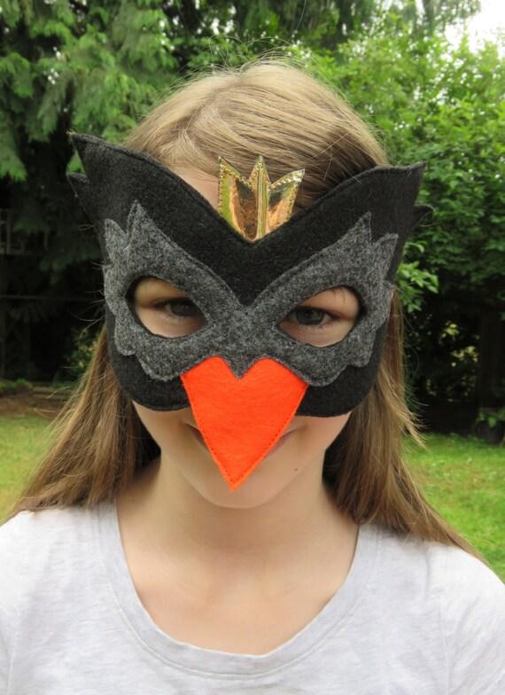 schwarzer schwan maske schwan kost mzubeh r filz vogel. Black Bedroom Furniture Sets. Home Design Ideas