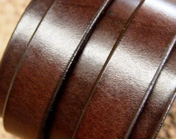 Brown Leather cuff bracelet : Double strap Rich brown bridle Leather. Fine craftsmanship Made in New York