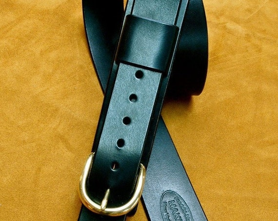 Leather Guitar Strap Black bridle leather Classic Vintage rocker strap Strong and clean Handmade for YOU in USA by Freddie Matara!