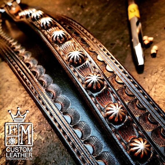 Black Leather Wrist Cuff; Distressed Traditional American Cowboy/Rockstar Style! Hand-made in New York!