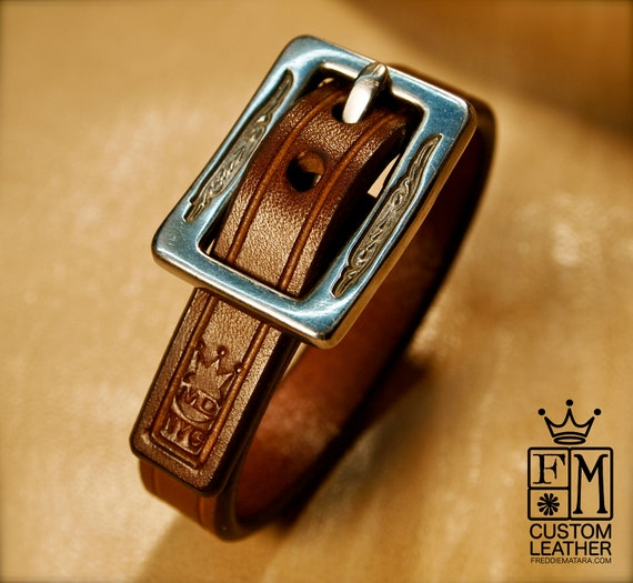 Leather bracelet Brown cuff Lean and Sexy made for YOU in Brooklyn New York by Freddie Matara!
