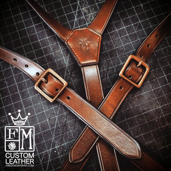 Leather suspenders hand built for YOU in New York   by Freddie Matara