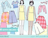 WOMAN paper doll set - easy for you to customize with your own photos - printable PDF - INSTANT download
