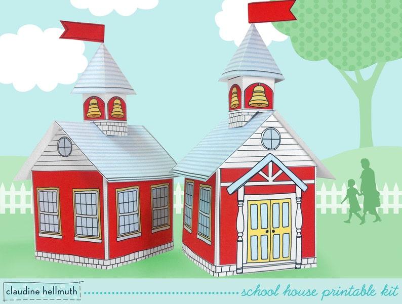 school house   cookie box  teacher appreciation gift box image 0