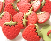 12x STRAWBERRY  BUTTONS