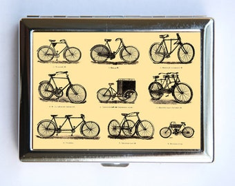 Bicycle Race Cigarette Case Wallet Business Card Holder victorian bikes