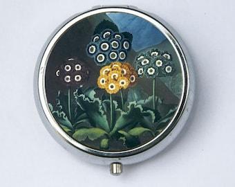 Auriculas Flower Pill Case pillbox holder botanical