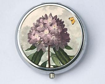 The Pontic Rhododendron Purple Flower Pill Case pillbox holder botanical
