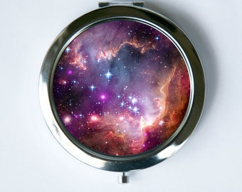 Galaxy Stars Compact MIRROR Pocket Mirror outer space