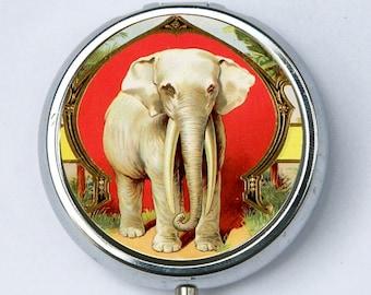 Elephant PILL CASE pillbox pill holder jungle zoo