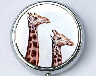 Giraffe PILL CASE pillbox pill case pill box ZOO animal