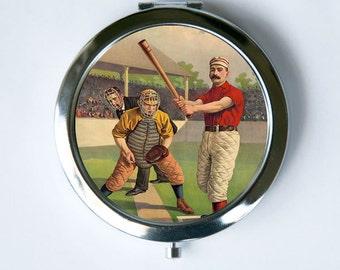 Baseball Batter Compact Mirror Pocket Mirror sports