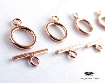 5 Sets 9mm Tiny 14K Rose (Pink) Gold Filled Toggle Set Clasp T132RGF