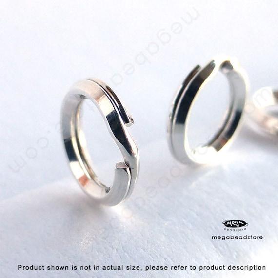 New 6mm 925 Sterling Silver Split Ring Jump Rings 10pcs.