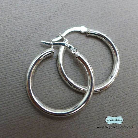 select your color and quantity 25mm round hoop earring 24g thick