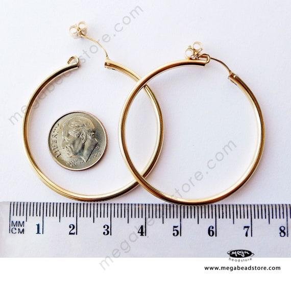 1 pair 40mm 14K Gold Filled Endless Round Hoop Earrings F336GF