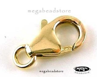 3 pcs 14K Gold Filled Clasp 12mm Lobster Claw Clasp F44GF-12