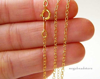 20 in 14K Gold Filled Cable Chain Necklace with clasp 2mm FC19- 1 pc