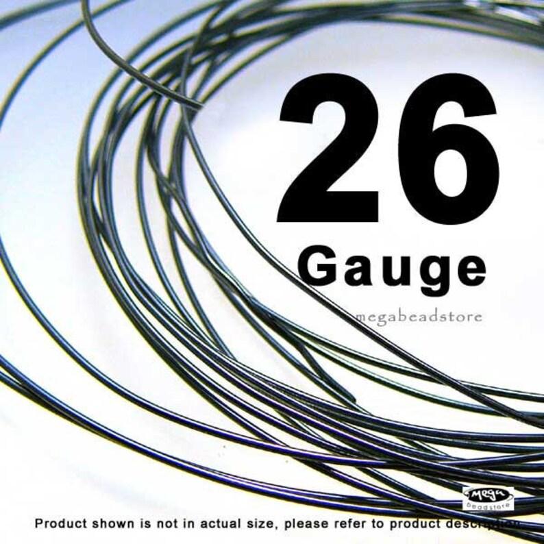 26 Gauge Rustic Black Dark Oxidized Sterling Silver Wire