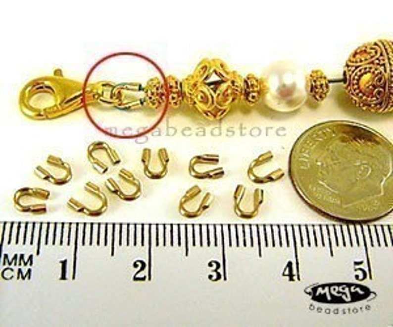 100 pcs 0.021 Wire Guardian Wire Thimble 14K Gold Filled F124GF S