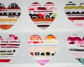 Tea Towels Fabric Selvage Hearts - Set of 2