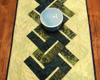 Batik Quilted Table Runner - 18.5 inches x 37.5 inches - Quiltsy Handmade