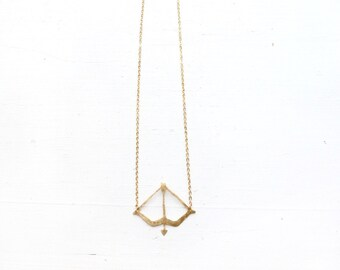 Orion//Bow & Arrow//Sagittarius//Centaurus//Valentine's Day Gift//Gold arrow necklace//Birthday Gift//Gift for Archerer//Gift for grad