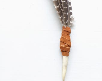 Smudging feather//Wild Turkey Feather//Smudge fan//House cleansing//Vernal equinox//Summer Solstice//Sacred ritual//Four elements