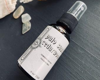 Palo Santo/Cedarwood/essential oil spray/sage essential oil/smokeless smudge/aromatherapy/home and body spray/essential oil therapy