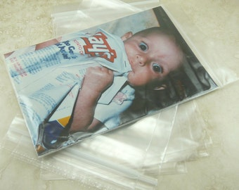 """4"""" x 6"""" Zip Lock Baggies Baggy Bags - 5cm x 5cm - For Jewelry, Beads, Small Items, Coins, Parts, Samples, Etc - QTY 100 Pieces"""
