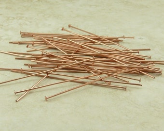 50 TierraCast 2 inch 21 gauge Copper Headpins > I ship Internationally 0028 Tierra Cast