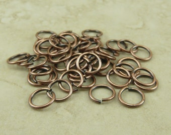 Jumprings Jump Rings 5mm ID 19g TierraCast Qty 50 > Copper Plated Brass - I ship Internationally NP