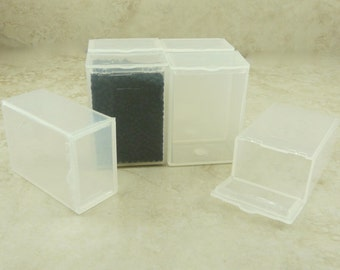 6 Small Easy Storage Containers - Holds 20 grams Seed Beads - Plastic Box Flip Top Bead Stoarge Small Parts