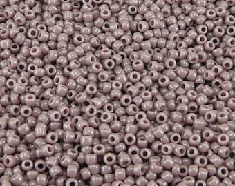 TOHO 11/0 Round Seed Beads - Opaque Lavender - 20 gram Bag - Lilac Purple Grape February - Color Code 52 - Jar 87