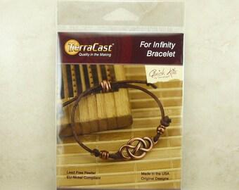 TierraCast Quick Kit - Celtic Infinity Bracelet Irish St Patricks Day Knot Leather - American Made Lead Free Pewter - I ship Internationally