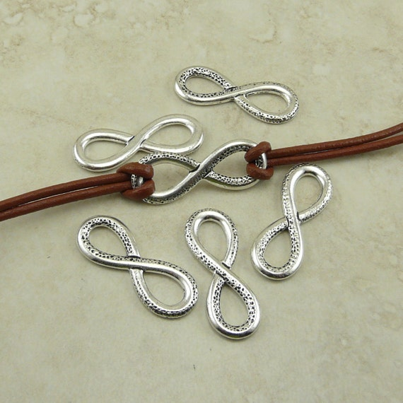 5 Tierracast Infinity Symbol Charm Links Forever Endless Etsy