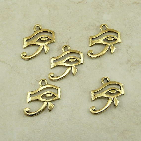 5 Eye Of Ra Egyptian Charms Symbol Sun God Horus Raw Etsy