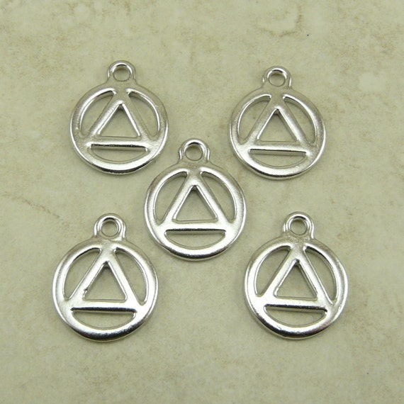 aa recovery serenity symbol charms tierracast triangle in etsy
