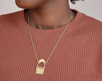 Shower of Faith Mini Fringe Pendant Necklace