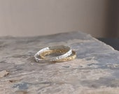 Flatten the Earth - Etched Stackable Ring - Gold or Sterling Silver - Mix and Match - 1 ring