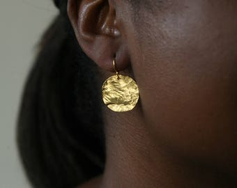 Small Round Reticulated Earring