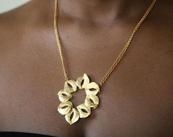 Organic Sculptured Gold Necklace