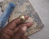 Rough Smoke - Textured Brass Cigar Band - Unisex Statement Ring